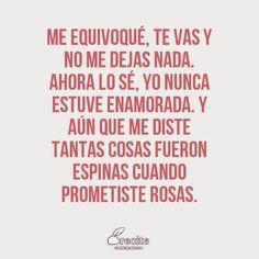 Ventino, me equivoque Olga Vives, Lyric Quotes, Lyrics, Me Equivoco, Universe, Thoughts, Twitter, Love Phrases, Quotes Girls