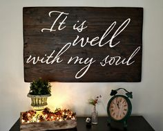 Wood sign by Aimee Weaver Designs || It is well with my soul