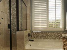 Waterproof shutters for bathroom windows Plastic Shutters, Plastic Curtains, Wooden Shutters, Wooden Windows, Bathroom Window Treatments, Bathroom Windows, Window In Shower, Bath Or Shower, Wooden Bathroom