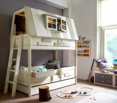 9 of the Most Insanely Cool Beds for Kids - Kids Bedroom Design Ideas Modern Bunk Beds, Cool Bunk Beds, Kids Bunk Beds, Modern Loft, Cool Beds For Kids, Bunk Bed Designs, Bedroom Designs, Childrens Beds, Bed Plans