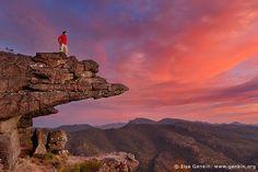 Sunset at the Balconies Lookout (Jaws of Death), The Grampians National Park (Gariwerd), Victoria, Australia by Ilya Genkin, via Flickr
