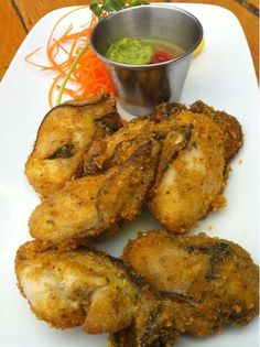 Cardero's Pan Fried oysters