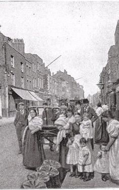 St. Georges in the east at the end of the 19th century.... London History, British History, Vintage London, Old London, Candid Photography, Street Photography, East End London, Ripper Street, Victorian Life
