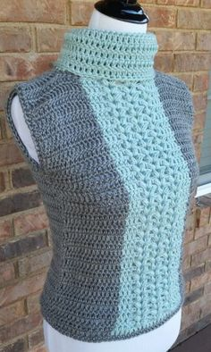 easy crochet vest - free pattern I have been seeing some beautiful patterns around the internet where one can make an easy crochet vest from two crochet rectangles. So simple and fun! Crochet Vest Pattern, Crochet Cardigan, Crochet Patterns, Free Pattern, Crochet Edgings, Crochet Sweaters, Crochet Vests, Crochet Motif, Quick Crochet