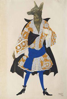 Léon Bakst (1866-1924) Costume design for 'La Belle au Bois Dormant': Le Loup 6 June 2016 London, King Street