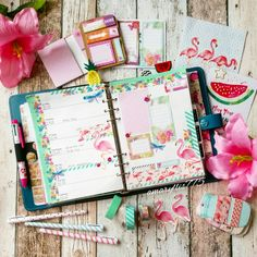 Creative Pages by amaryllis775: Filofaxing / flamingolove