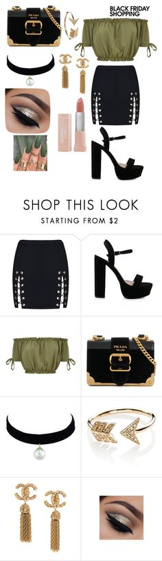 """""""Slay for Black Friday"""" by d5sand ❤ liked on Polyvore featuring Prada, EF Collection and Maybelline"""