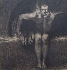 Franz von Stuck  Lucifer  Etching, c.1890