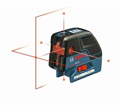 2. Bosch GCL25 Self Leveling 5-Point Alignment Laser with Cross-Line