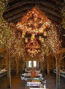 The Barn decorated for a fall wedding - Beautiful and Rustic!