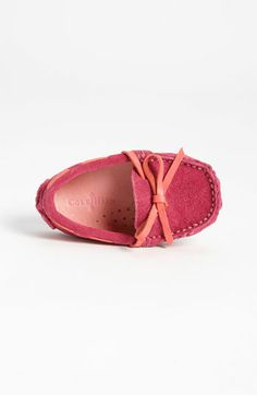 Whoa...cuteness overload!  Cole Haan 'Mini' Driver Moccasin (Baby) | Nordstrom