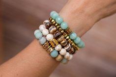Amazonite Stack Bracelets
