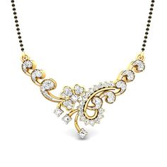 mangalsutra design in diamond - Google Search