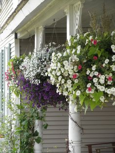 love hanging baskets..