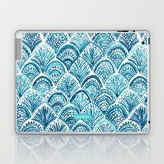 Skins are thin, easy-to-remove, vinyl decals for customizing your laptop . Skins are made from a patented material that eliminates air bubbles and wrinkles for easy application. Mac Desktop, Laptop Skin, Vinyl Decals, Bubbles, Ipad, Notebook, Fish Scales, Gadgets, Mermaid