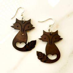 Coconut Fox Earrings