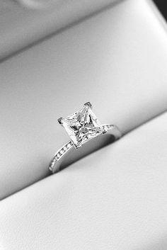 princess cut engagement rings solitaire platinum diamond pave band