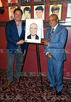 Berry Gordy caricature unveiled at Sardi's, New York, America - 13 Jul 2016 Kevin McCollum, Berry Gordy 13 Jul 2016 Berry Gordy, Tamla Motown, Record Company, Caricature, Entertainment, York, Dance, Baseball Cards, American
