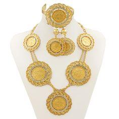 Fashion Jewelry Jewelry & Watches Hot Sale Yellow Designer Flower Necklace Set Handmade Wedding Fashion Jewelry 100% High Quality Materials