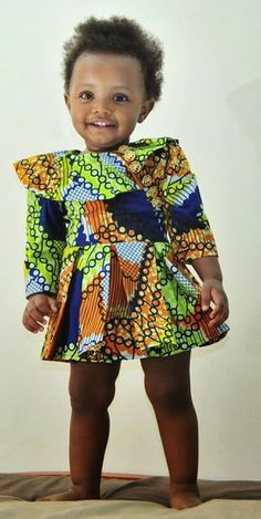 Baby Girl Look Cool in Ankara Styles