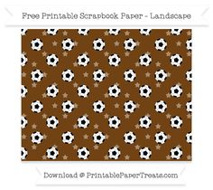 Landscape Sepia Star Small  Soccer Ball Pattern Paper