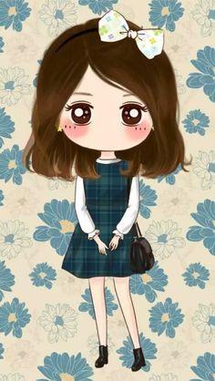 Baby by AleyNguyen Cute Cartoon Pictures, Cute Cartoon Girl, Cute Love Cartoons, Cartoon Girl Drawing, Anime Girl Drawings, Anime Art Girl, Anime Chibi, Kawaii Chibi, Cute Chibi