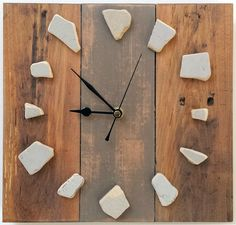 driftwood clock wooden wood upcycle reclaimed rustic handmade shabby chic