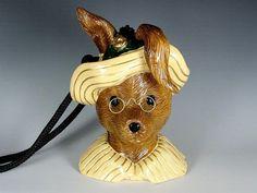 Timmy Woods Wood Purse Dressed Mrs Rabbit by ShootingCreekJewelry, $225.00