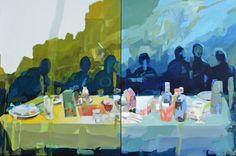 "Saatchi Art Artist Melinda Matyas; Painting, ""Seven days (diptych)"" #art"
