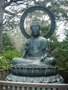 Buddha and buddhism is an important part of Japanese garden culture as are other religious mantras and beliefs. The 2 most religious but we prefer spiritual types of Japanese gardens are Karesansui (Zen gardens) and Tea Gardens. Art Buddha, Buddha Zen, Buddha Meditation, Gautama Buddha, Buddha Buddhism, Buddhist Art, Buddha Statues, Meditation Images, Meditation Music