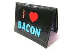 I Love Bacon Duct Tape Wallet Smallet Style by TimmNicole on Etsy, $12.00