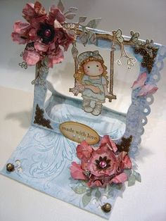 Arts And Crafts, Paper Crafts, Paper Magic, Magnolia Stamps, Easel Cards, Pop Up Cards, Scrapbooking, Dolphins, Cardmaking