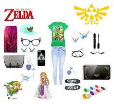 """The legend of Zelda fan girl"" by sierra-erwin101 on Polyvore featuring Nintendo, Glamorous, Vans, Alexander McQueen, Marc Jacobs and Episode"