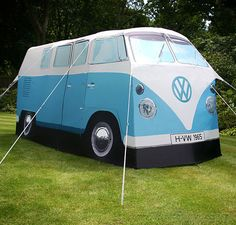 check this out@Amy Reid, and @Carly Lynch...it's a VW bus TENT!  Gotta get this for Caleb!!!!