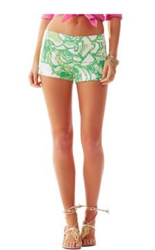 "3"" Printed Liza Short - Lilly Pulitzer Resort White Heart Breakers"
