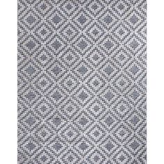 Home Decorators Collection Samba Square Gray 5 ft. x 7 ft. Indoor/Outdoor Area Rug-32465 - The Home Depot Outdoor Carpet, Indoor Outdoor Area Rugs, Outdoor Stage, Area Rug Sets, Rug Texture, Geometric Tiles, Diy Projects For Beginners, Polypropylene Rugs, Rug Material
