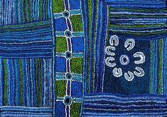 """Minma Kutjara"" in 2011 by Maringka Baker. Acrylic on linen."