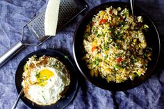 fried rice with zucchini, tomatoes and parmesan | smittenkitchen.com
