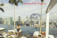 The postcard came from Singapore    Bayfront avenue Singapore.