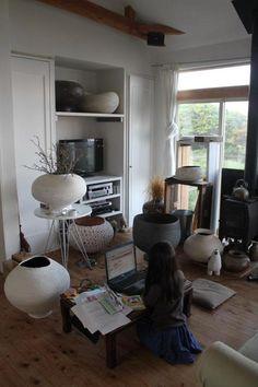 kazunori hamana; home overflowing with ceramics!