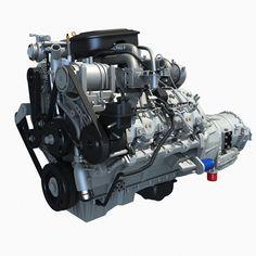 Duramax Engine with Allison Automatic Transmission Chevrolet Silverado, Silverado Hd, Car 3d Model, Quad Bike, 3d Studio, Water Crafts, Automatic Transmission, Diesel, Engineering