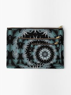 """""""Kaleidoscope Crystal Mandala"""" Zipper Pouch by HavenDesign 