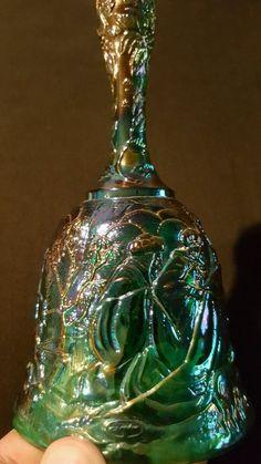 FENTON Purple Carnival Glass Bell