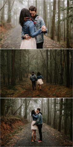 Moody engagement photos taken in the stunning mountains of Southern Oregon by Medford Wedding Photographer Katy Weaver