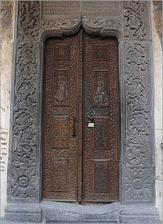 This door is from Stavropoleos Monastery, Bucharest, Romania. It was founded in 1724.