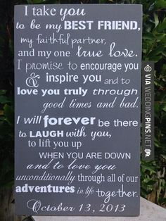 Wedding Vows Wood Sign 12 x 20 Subway Engagement by LilMissScrappy, $39.95