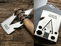 Credit Card Ax - 21 Tools Plus an Ax that Fits in your Pocket - GetdatGadget