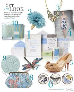CeciStyle Magazine v41: Get The Look - Create an enchanted mood by mixing shades of misty blue with pretty flying insects