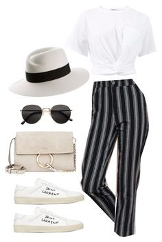 """Untitled #4916"" by lilaclynn ❤ liked on Polyvore featuring T By Alexander Wang, Yves Saint Laurent, Chloé, H&M and Maison Michel"