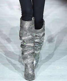 Burn baby burn it's a disco inferno over at @ysl - do you think these will be the most coveted boots of next season? Click the link in our bio for the full Saint Laurent Autumn/Winter 2017 review straight from Paris Fashion Week and boy is it steamy! #pfw #ysl #saintlaurent  via INSTYLE UK MAGAZINE OFFICIAL INSTAGRAM - Fashion Campaigns  Haute Couture  Advertising  Editorial Photography  Magazine Cover Designs  Supermodels  Runway Models